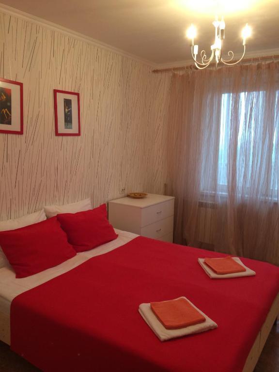 """Łóżko lub łóżka w pokoju w obiekcie Apartments """"Ruso Turisto"""""""