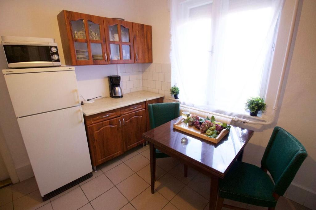 Kuchyň nebo kuchyňský kout v ubytování Krisztián Vendégház