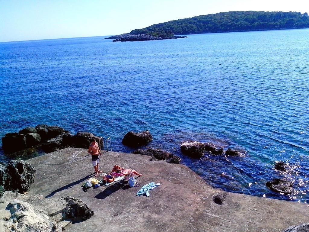Widok na morze z tego pensjonatu