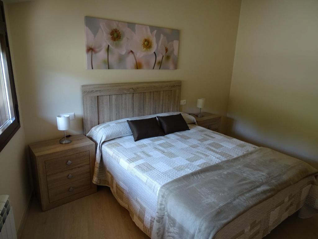 Cama o camas de una habitación en Casa Ombrieta