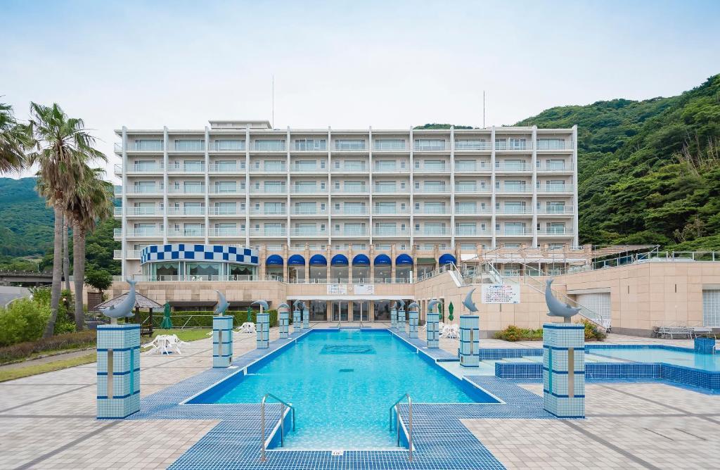 The swimming pool at or near Nishiizu Crystal View Hotel