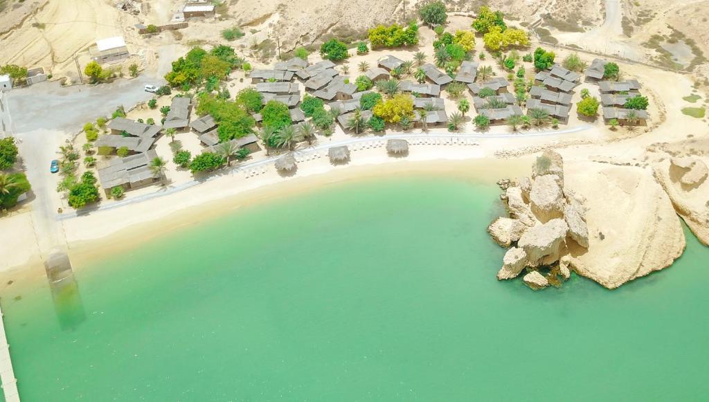 Een luchtfoto van Muscat Hills Resort