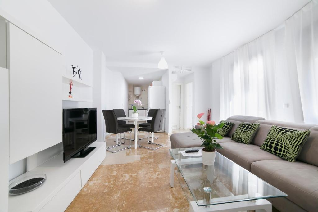 En sittgrupp på Apartamentos Salamanca