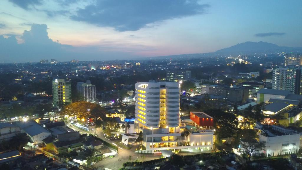 A general view of Bandung or a view of the city taken from the hotel