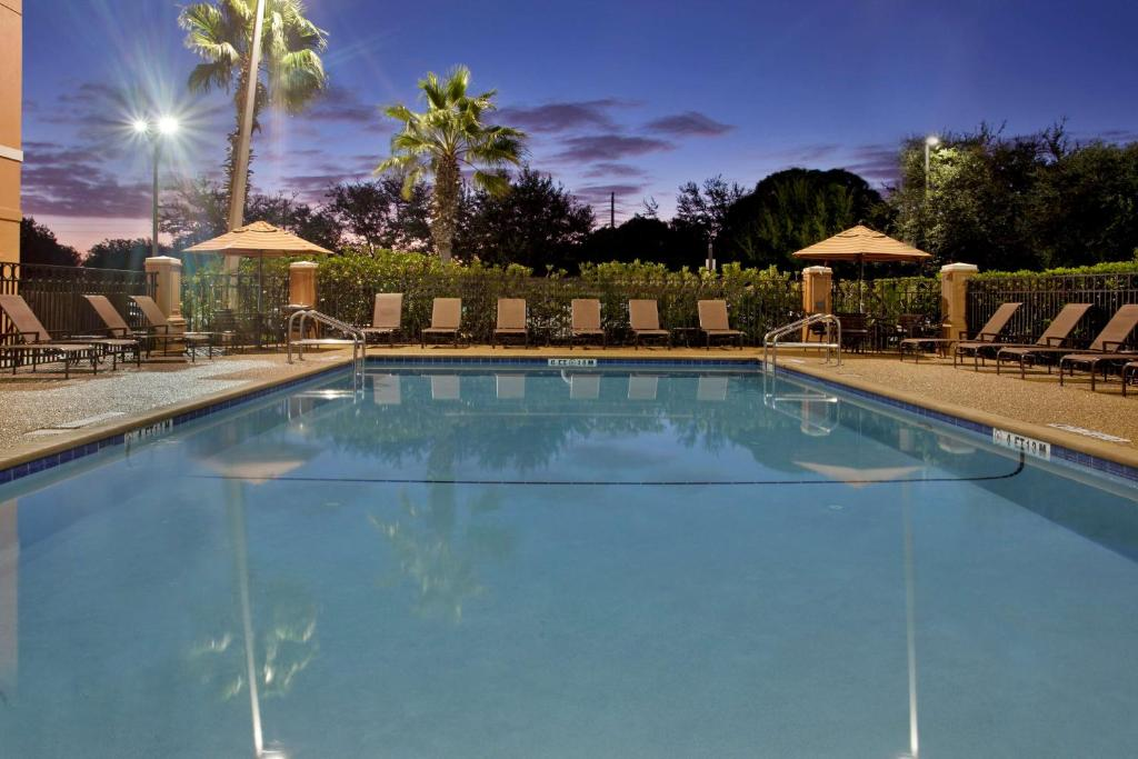 The swimming pool at or close to Hyatt Place across from Universal Orlando Resort