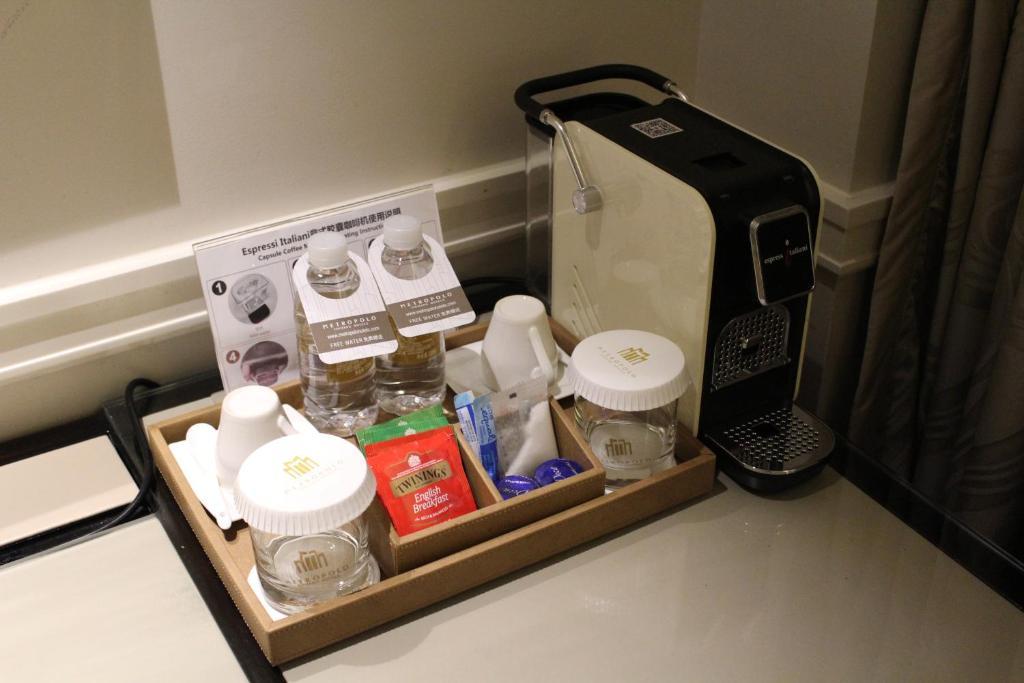 Coffee and tea-making facilities at Metropolo Classiq, Shanghai, Bund Circle