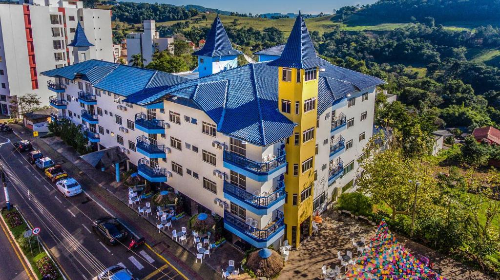 A bird's-eye view of Hotel Paraiso