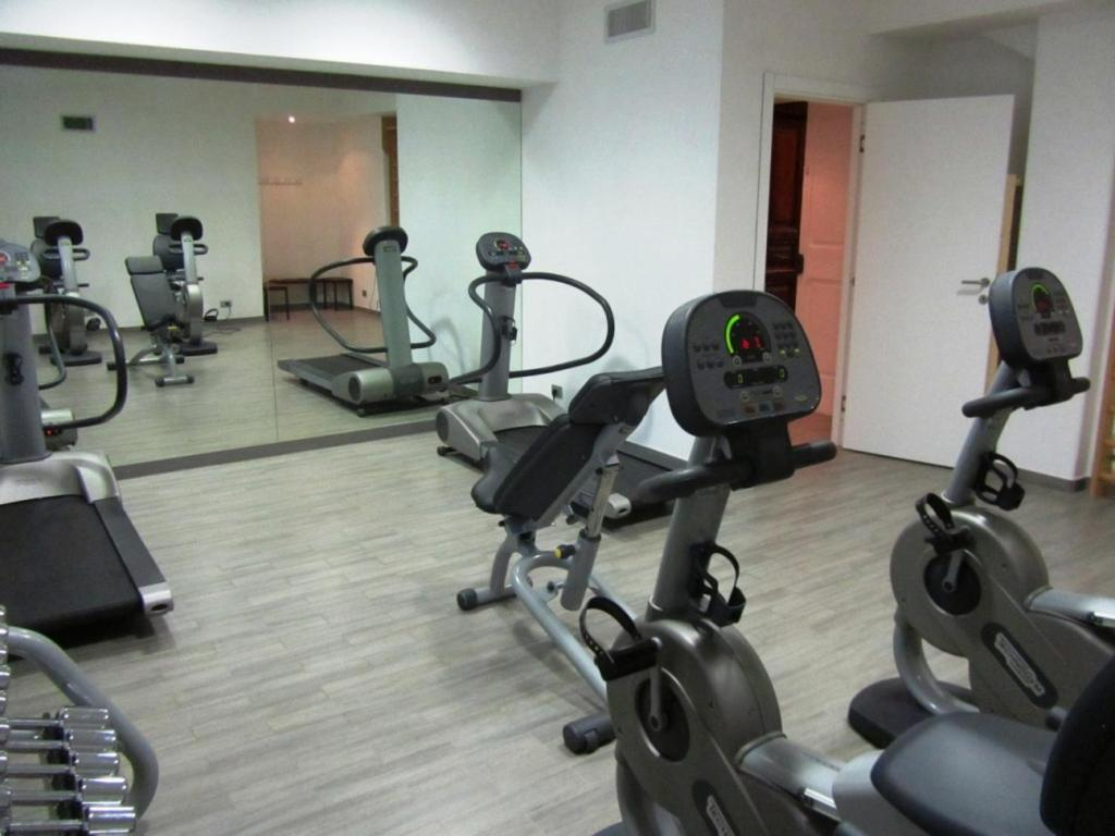 The fitness center and/or fitness facilities at Trianon Borgo Pio Aparthotel