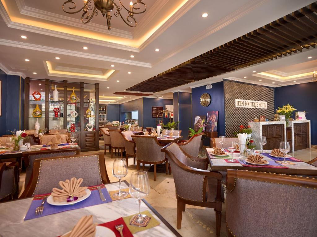 A restaurant or other place to eat at Eden Boutique Hotel & Spa