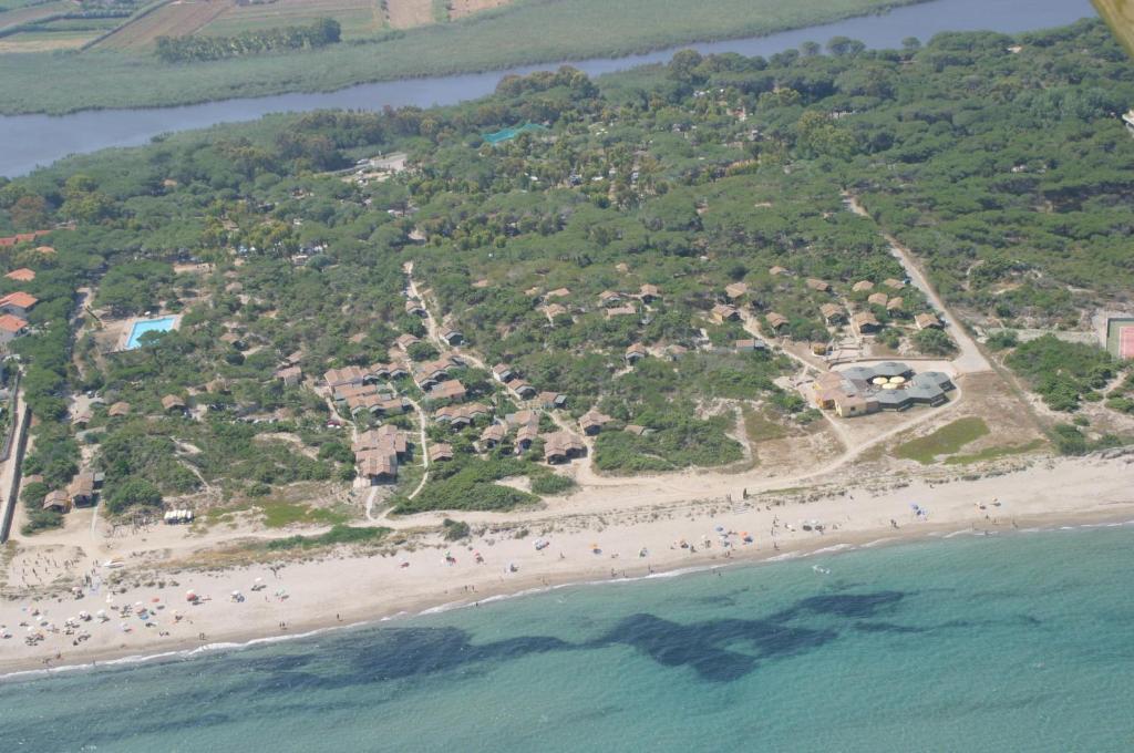 A bird's-eye view of Camping Golfo dell'Asinara