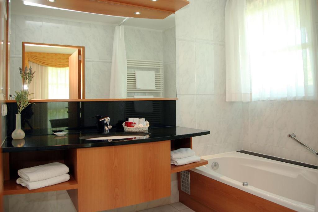 Salle de bains dans l'établissement Hotel Iris