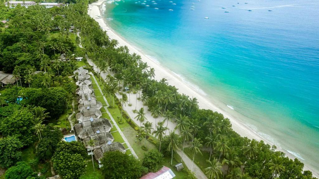 A bird's-eye view of Daluyon Beach and Mountain Resort
