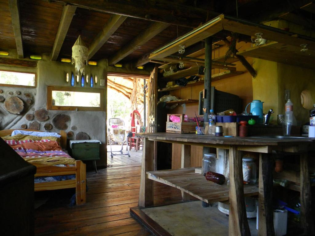The lounge or bar area at Manon del Manantial