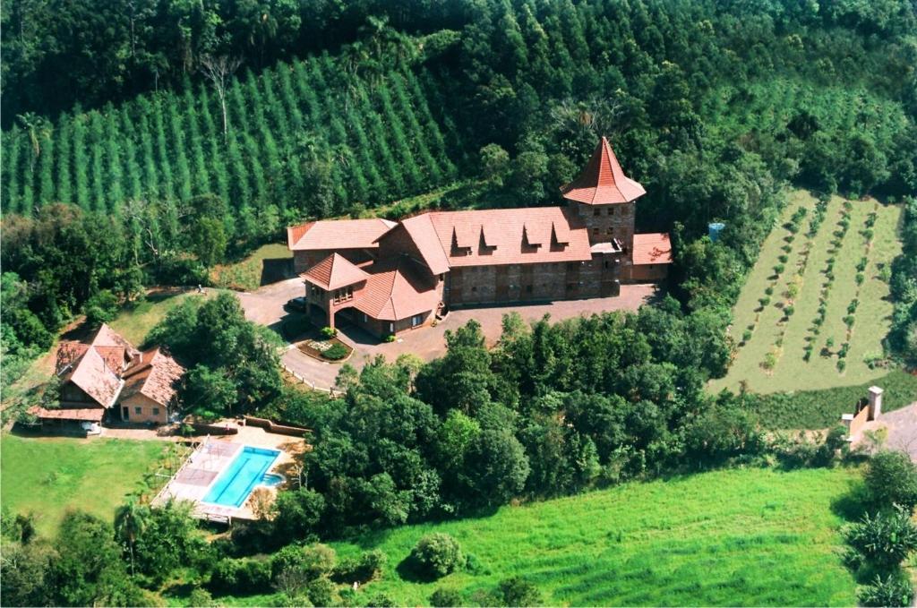 Uma vista aérea de Hotel Spazio