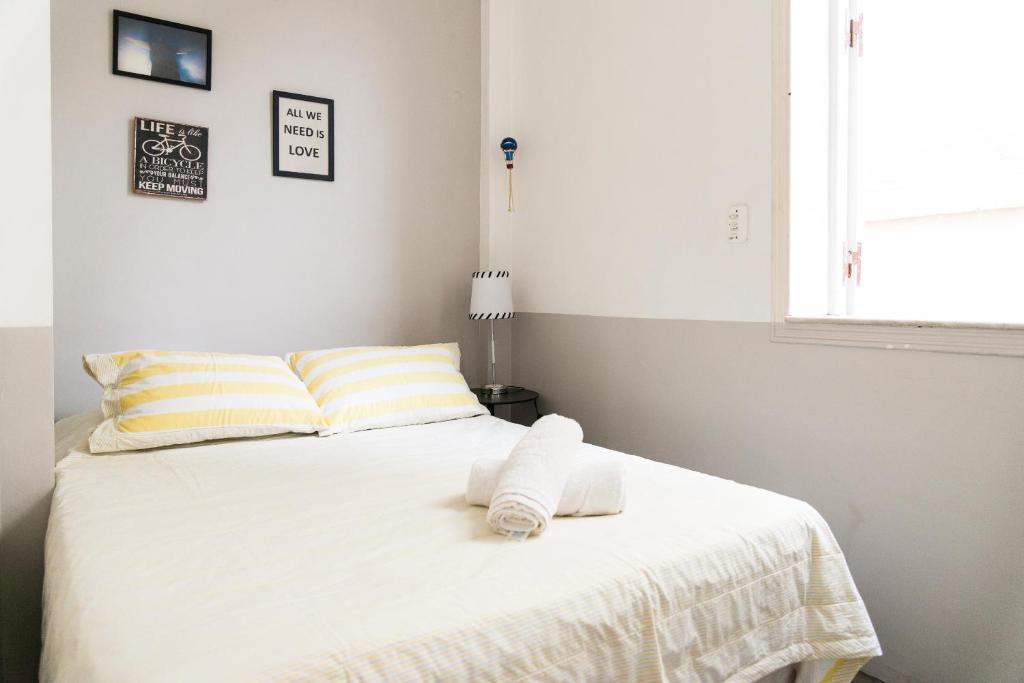Ein Bett oder Betten in einem Zimmer der Unterkunft Kaza Rio
