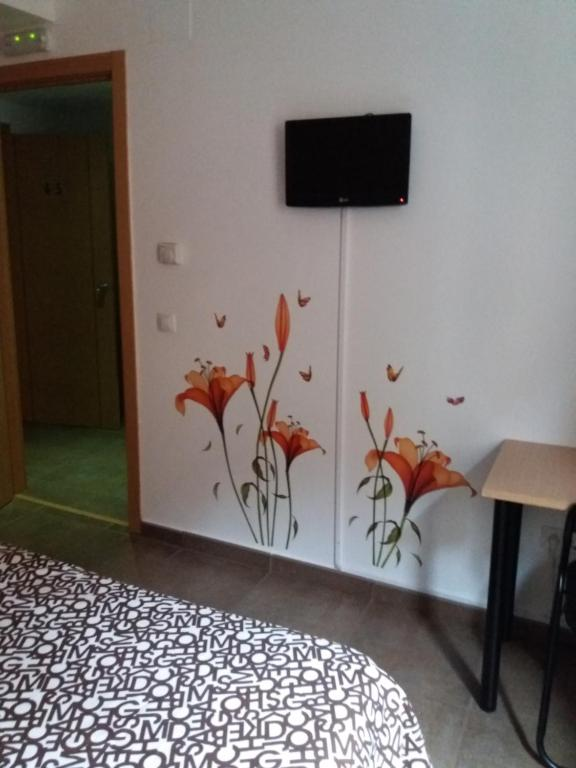 A television and/or entertainment center at Hostal la Catedral