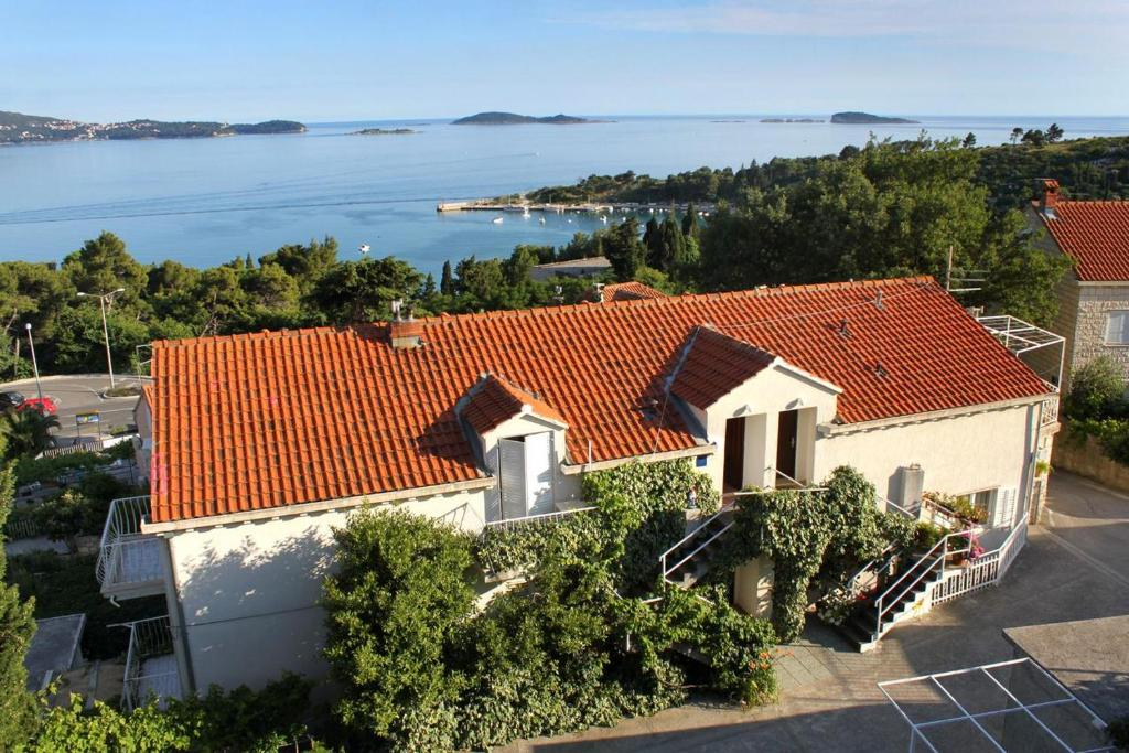 A bird's-eye view of Apartments with a parking space Mlini, Dubrovnik - 8834