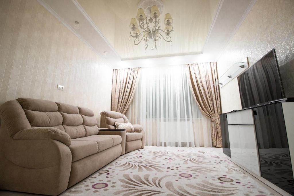 Гостиная зона в Apartment on Lva Tolstogo 16
