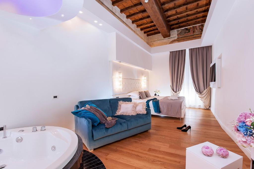 Ein Sitzbereich in der Unterkunft Argentina Residenza Style Hotel
