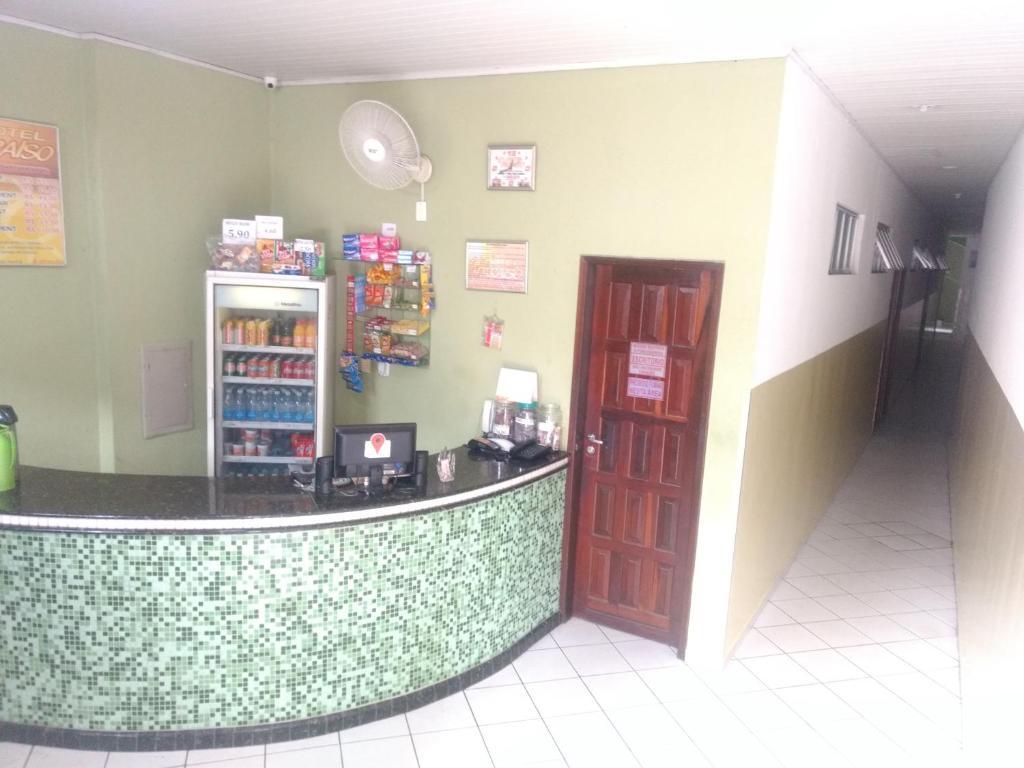 The lobby or reception area at Hotel Paraiso