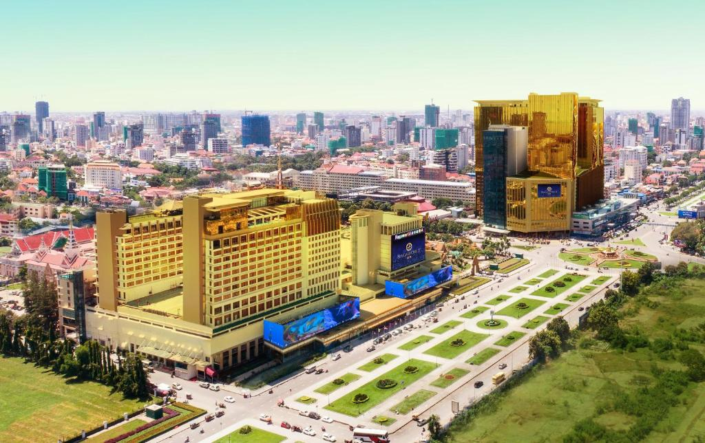 A bird's-eye view of NagaWorld Hotel & Entertainment Complex