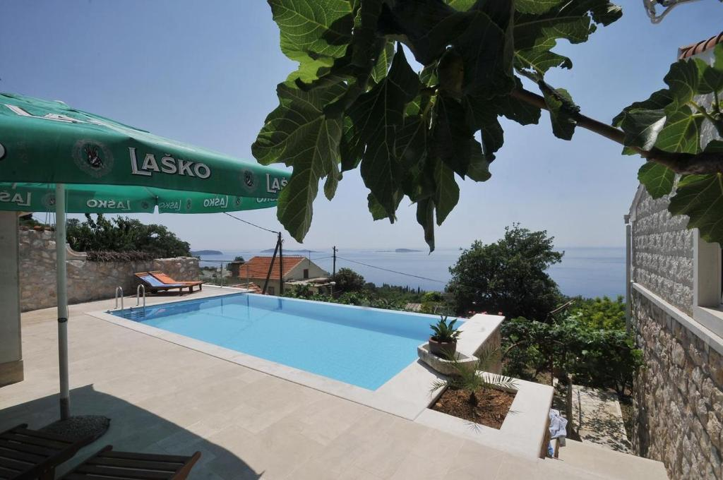 The swimming pool at or close to Family friendly house with a swimming pool Mlini, Dubrovnik - 12828