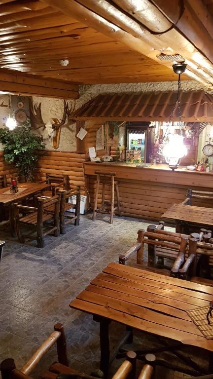 A restaurant or other place to eat at Hostel P33
