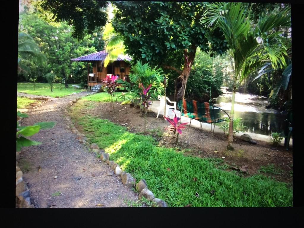 Garden sa labas ng Sabalo Lodge