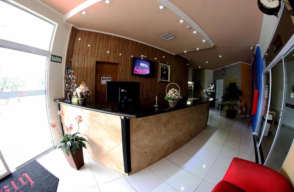 The lobby or reception area at Hotel Bismark