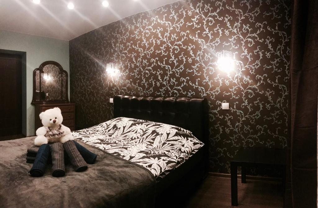 Кровать или кровати в номере #PetergofApart