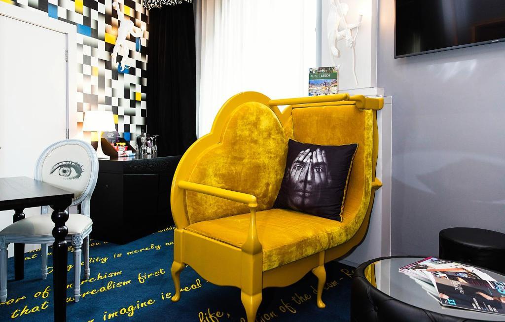 A seating area at Malmaison Hotel Leeds