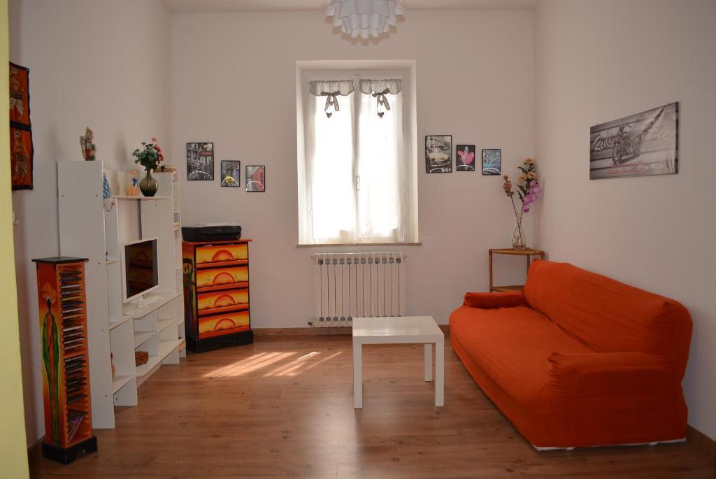 A seating area at La Casa di Roberta
