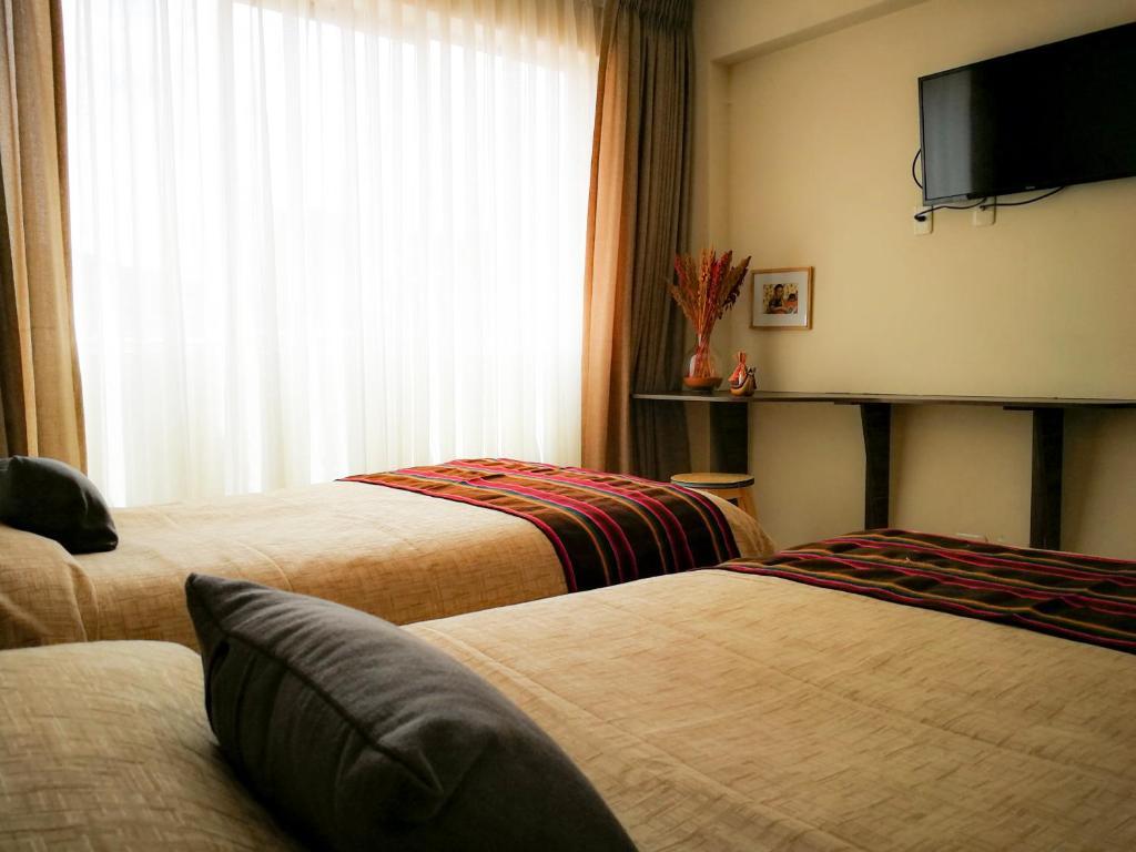 ホテル サガルナガにあるベッド
