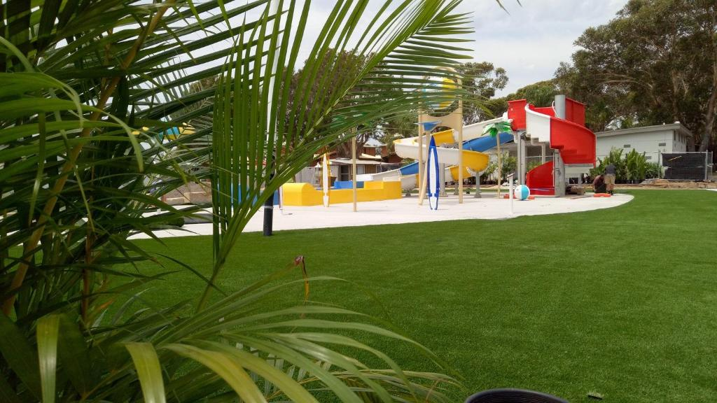 Children's play area at Shelly Beach Holiday Park
