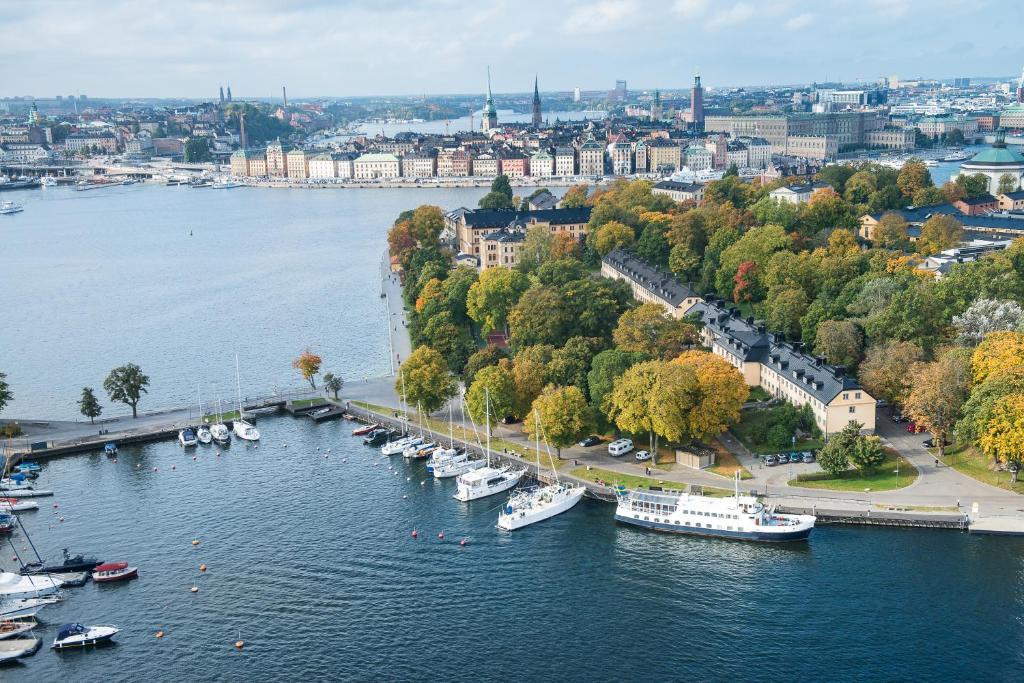 A bird's-eye view of Hotel Skeppsholmen, a Member of Design Hotels™