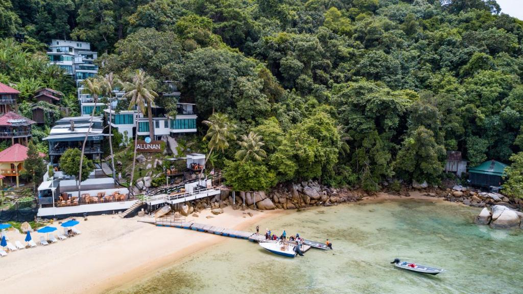 Vista aerea di Alunan Resort
