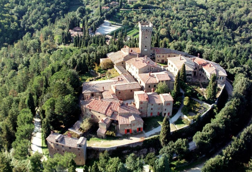 A bird's-eye view of Castello Di Gargonza