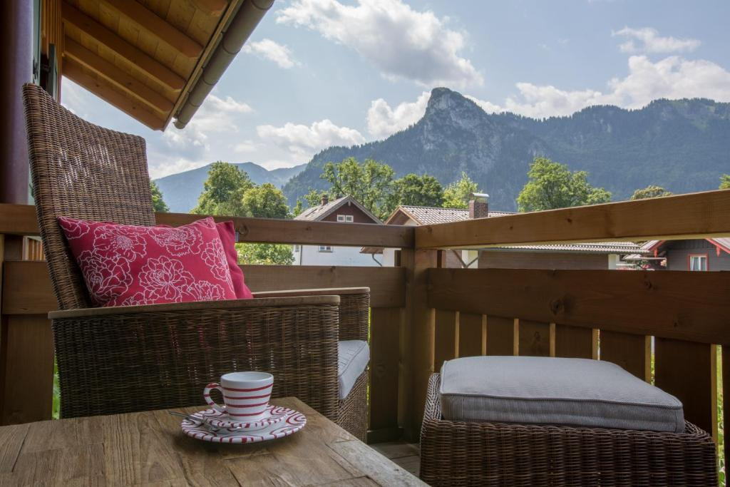 A balcony or terrace at BergZeit