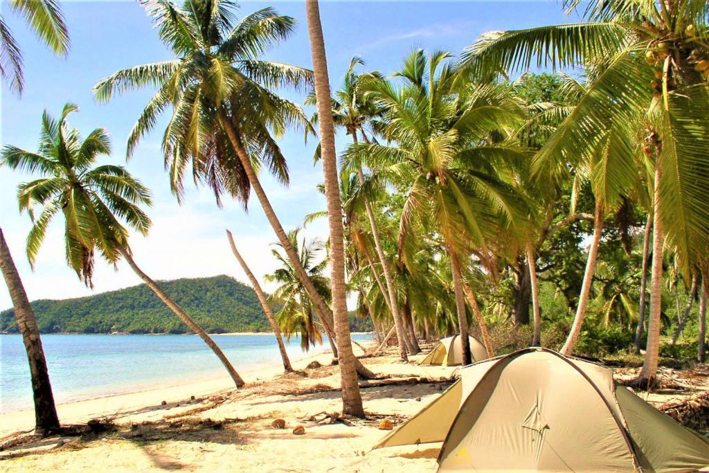 Uma praia perto deste camping