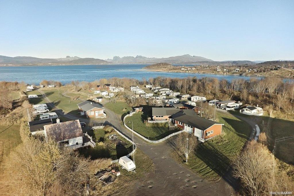 A bird's-eye view of Camp Saltstraumen-Elvegård