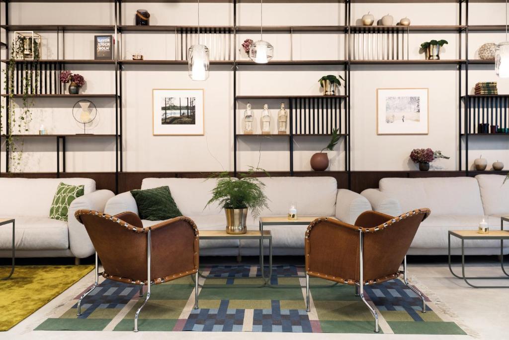 Lobbyn eller receptionsområdet på Elite Hotel Carolina Tower