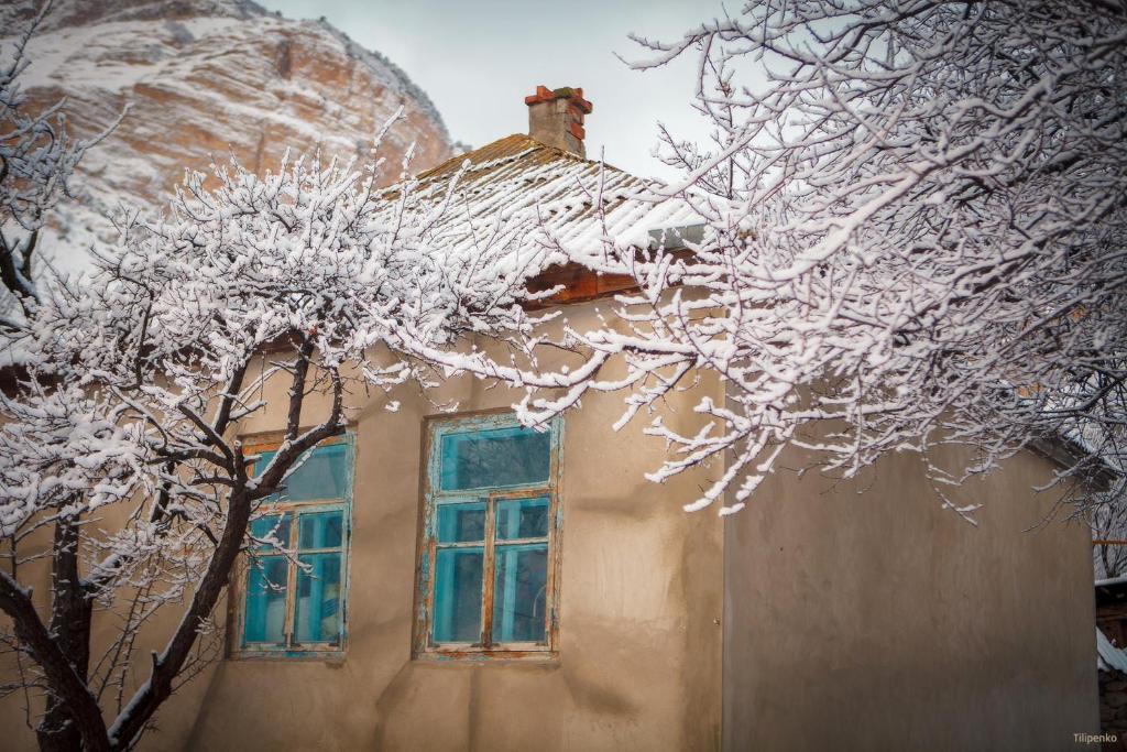 У Индиры during the winter