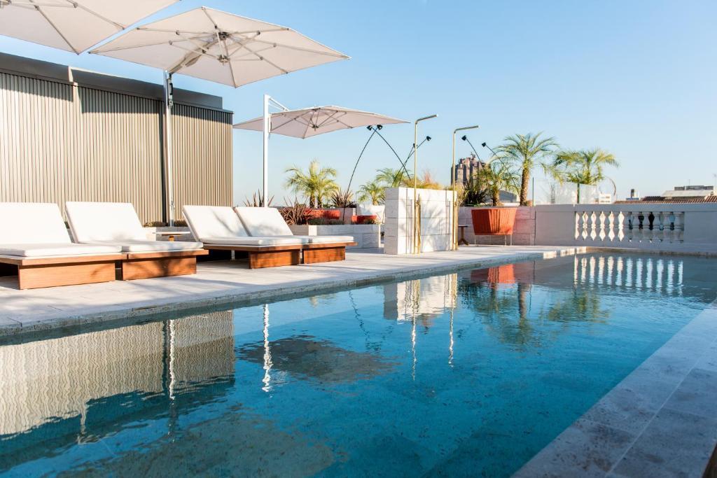 The swimming pool at or near Almanac Barcelona