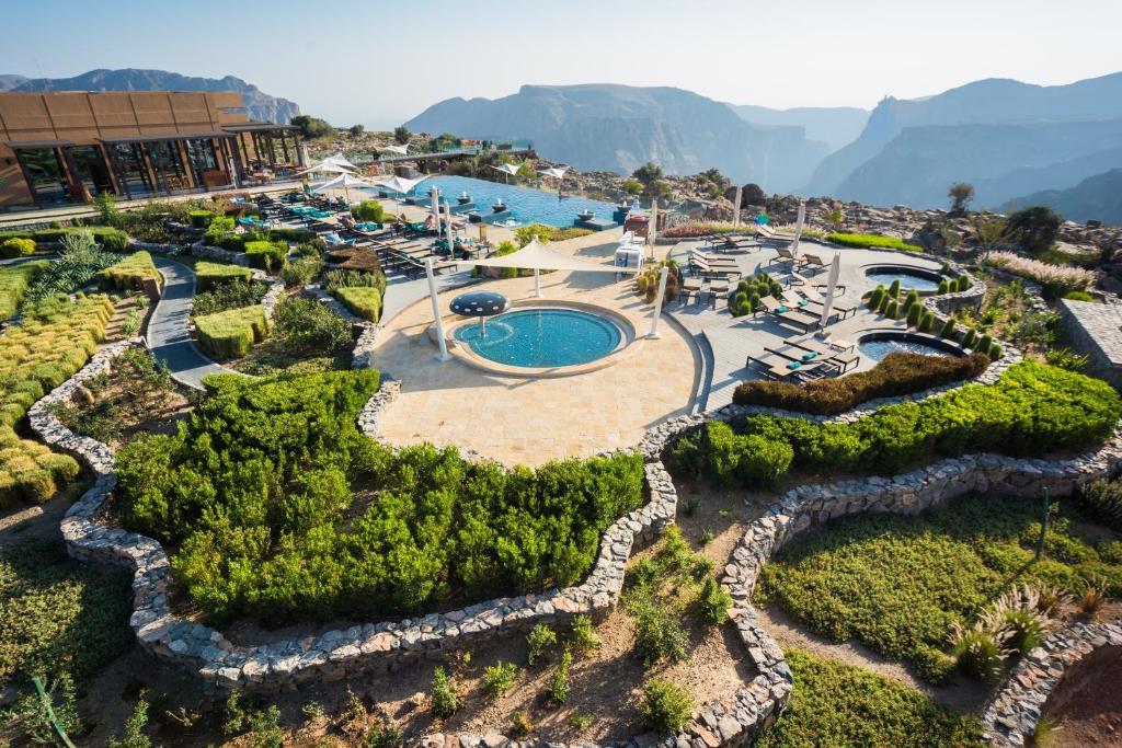 A bird's-eye view of Anantara Al Jabal Al Akhdar Resort