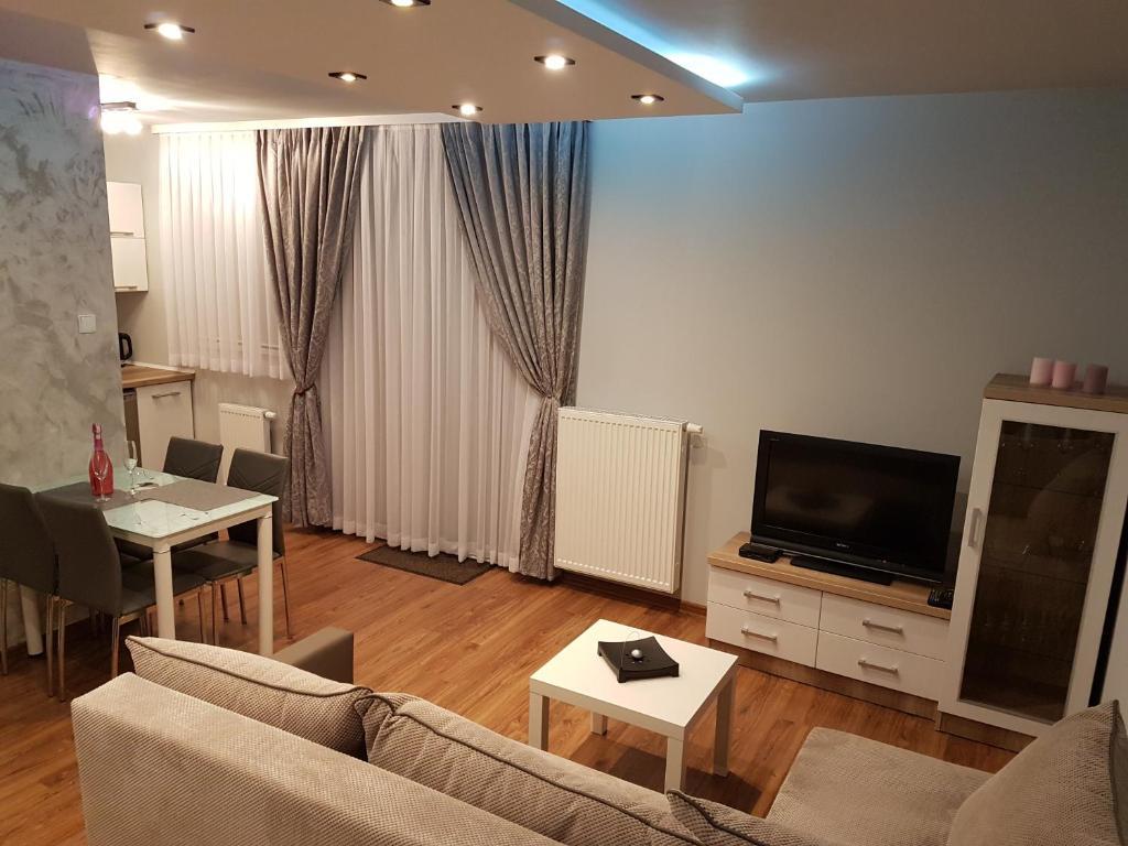 Telewizja i/lub zestaw kina domowego w obiekcie Apartament-Studio Polana Szaflarska