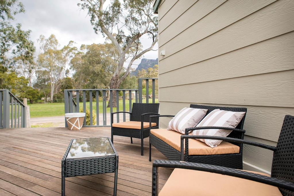 A seating area at The Peaks Halls Gap