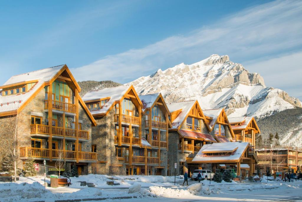 Moose Hotel and Suites during the winter