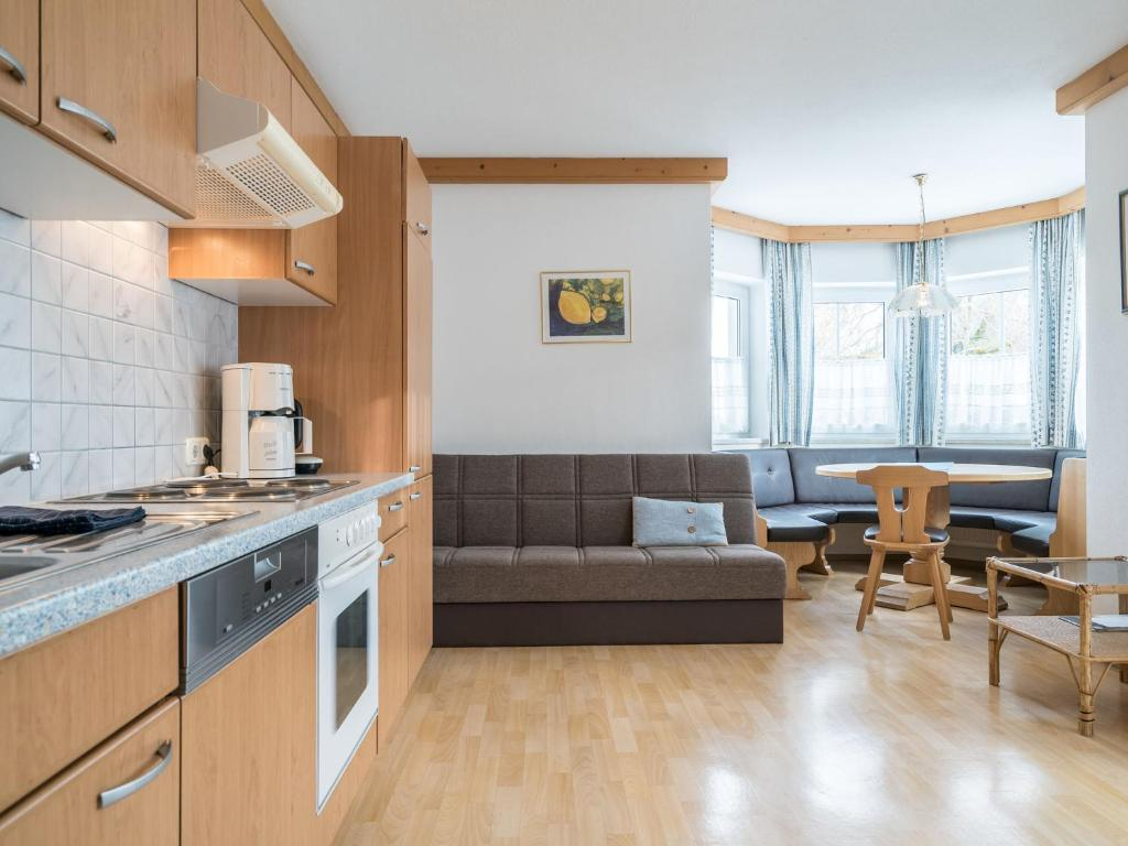 A kitchen or kitchenette at Sunny Apartment in Leogang near Ski Lift