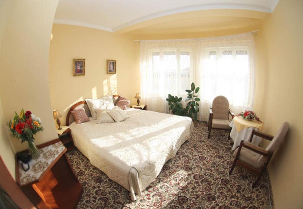 Hotel Anton 객실 침대