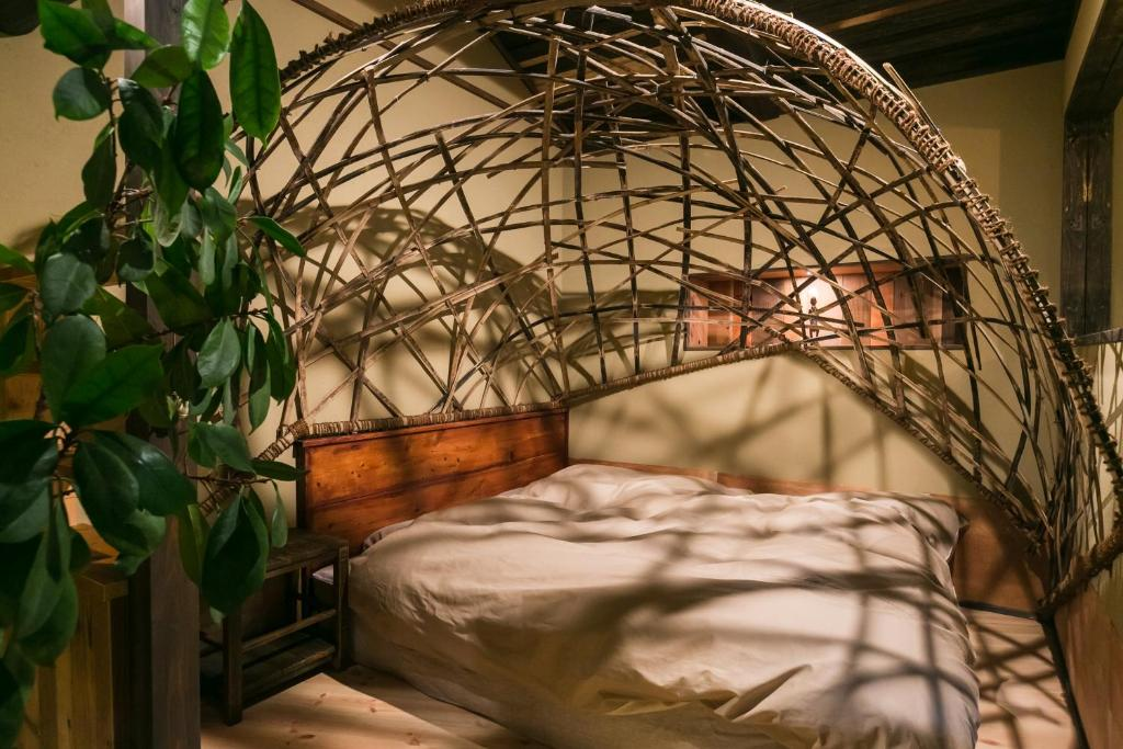 京華宿 巣にあるベッド